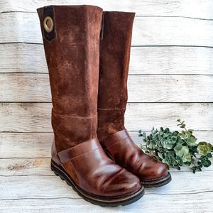 Sorel Brown Suede Tall Boot Riding Leather pull